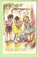 Germaine BOURET - Superbe Carte En Bon état : Bouquet De Fleurs Pour Maman  - Système , Découpis , Ajoutis , Paillettes - Bouret, Germaine