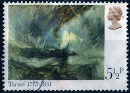 Grande Bretagne 1975 Painter Turner Painting / Peinture / Tableau 5 1/2 P Michel N° 670 - Used Stamps