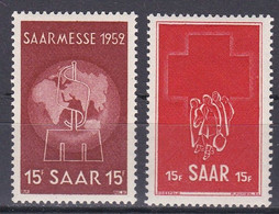 Men_ Saargebiet Saarland Sarre 1952 - Mi.Nr. 317 - 318 - Postfrisch MNH - Ungebraucht