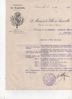 FACTURE   LUNEVILLE 54 MAIRIE DE LUNEVILLE - Frankreich