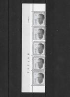 Bande De 5 N° 2520 Avce CD 10.VIII.93. - 1981-1990 Velghe