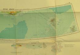 "Topographie Seekarte 1969 1:2.500.000 "" Blatt Lerwick = Shetland Islands Färöer Grönland Südspitze "" Verlag UDSSR/Ungarn - Cartas Náuticas"