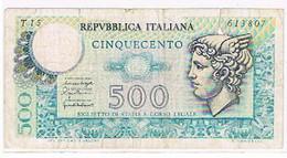 ITALIE BILLET DE 500 LIRE  N° 613807   BI45 - Italia