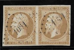 France N°13 - Paire - TB - 1853-1860 Napoleon III