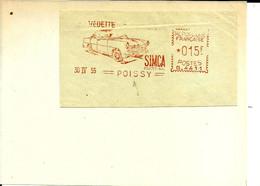 Ema Havas G 1955  Transport Voiture  Simca Vedette 78 Poissy    C30/17 - Factories & Industries