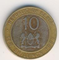 KENYA 1997: 10 Shillings, KM 27 - Kenya