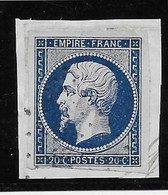 France N°14Ab Bleu-noir - Oblitéré - TB - 1853-1860 Napoleon III