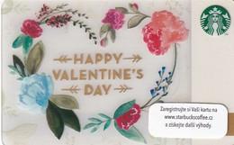 "CZECH REPUBLIC - Happy Valentine""s Day, Starbucks Card, CN : 0091, Unused - Gift Cards"