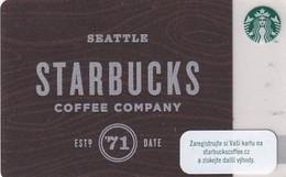 CZECH REPUBLIC - Starbucks Coffee Company, Starbucks Card, CN : 0091, Unused - Gift Cards