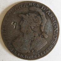 Constitution Caisse De Bonne Foy, 2 Sols 6 Deniers, 1791 An 3 Paris , Avec Contremarque  Monnaie De Confiance - 1789-1795 Monnaies Constitutionnelles