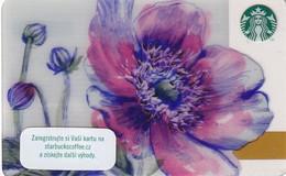 CZECH REPUBLIC - Flower, Starbucks Card, CN : 0091, Unused - Gift Cards
