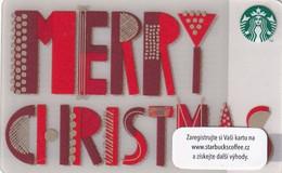 CZECH REPUBLIC - Merry Christmas, Starbucks Card, CN : 0091, Unused - Gift Cards