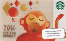 CZECH REPUBLIC - 2017 Year Of The Monkey, Starbucks Card, CN : 0091, Unused - Gift Cards