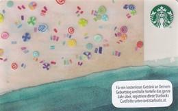 AUSTRIA - Beach, Starbucks Card, CN : 0310, Unused - Gift Cards