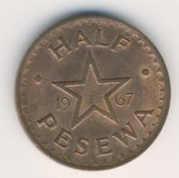 GHANA 1967: 1/2 Pesewa, KM 12 - Ghana