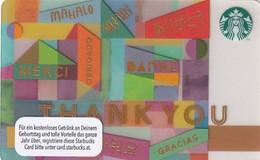 AUSTRIA - Thank You, Starbucks Card, CN : 0310, Unused - Gift Cards