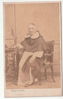 Antique CDV Photo MARZOCCHINI Priest Christianity Italy Italiano Livorno - Personas Anónimos