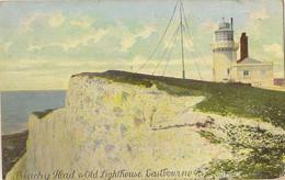 ENGLAND SUSSEX EASTBOURNE  BEACHY HEAD AND LIGHTHOUSE  Pu 1910 - Eastbourne