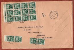 Brief, Portomarken, Grenoble Nach Annemasse 1945 (97816) - Segnatasse