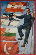K.u.K. WWI - Offizielle Karte Fur Rotes Kreuz Nr. 372  , MATROSE MIT FLAGGE - Weltkrieg 1914-18
