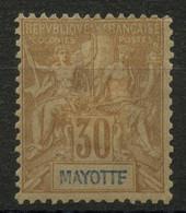 Mayotte (1892) N 9 * (charniere) - Neufs