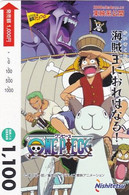 JAPAN - Cartoon, One Piece, Nishitetsu Prepaid Card Y1100, Used - Comics