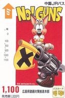 JAPAN - Cartoon, No Guns, Bus Ticketcard Y1100, Used - Comics
