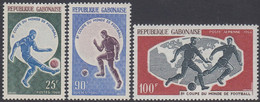 Gabon 1966 - Football World Cup - Mi 247-249 ** MNH - Gabón (1960-...)