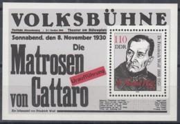 DDR  Block 96, Postfrisch **, Friedrich Wolf 1988 - Bloques