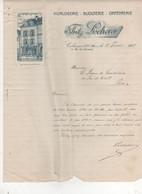 FACTURE COLMARD 68  FRITZ LOCHERER HORLOGERIE BIJOUTERIE ORFEVRERIE - Frankreich
