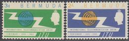 Bermuda 1965 - The 100th Anniversary Of ITU - Mi 185-186 ** MNH - Bermudas