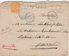 COVER COLOMBIA. 30 JANV 1885. LIGNE.D PAQ. FR. N° 2. T 0,50 COLON. VIA MARSEILLE TO PARIS. CHERCH ARDECHE      /    2 - Colombia