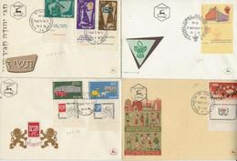 ISRAEL -LOT DE 6 FDC  DE 1954 A 1958  TB - FDC