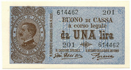 1 LIRA BUONO DI CASSA VITTORIO EMANUELE III PORENA LUGLIO 1921 FDS - [ 1] …-1946 : Reino