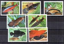 Nicaragua Serie Nº Yvert 1160/AE+955A/B ** PECES (FISHS) - Nicaragua