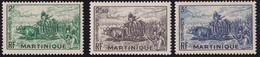 Martinique, Travaux Des Champs, Récolte De Canne à Sucre, 2F, 2.50F, 3F - 1947 - Ungebraucht