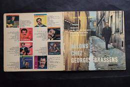 45 T BRASSENS ALLONS CHEZ GEORGES BRASSENS LIVRET TEXTE Et PHOTOS DISCOGRAPHIE GAINSBOURG HALLYDAY ETC - 45 Toeren - Maxi-Single