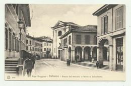 PALLANZA - PIAZZA DEL MERCATO E CHIESA S.SEBASTIANO  1906   VIAGGIATA  FP - Verbania