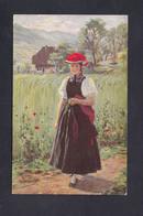 Illustrateur Wilhelm Hasemann Gutacher Mädchen  Künstlerpostkarten Ed. Frau L. Hasemann Gutach Coquelicot Jeune Fille - Altre Illustrazioni