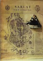 D24 - SARLAT - POUPEE PERIGOURDINE ET PLAN DE LA VIEILLE VILLE - CPSM  Grand Format - Sarlat La Caneda