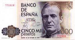 BILLETE DE 5000 PESETAS - [ 4] 1975-… : Juan Carlos I