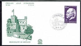 Monaco - F.D.C. Prince Rainier III - Poste Aérienne 10 F Monaco 23-12-1974 - TB - - FDC