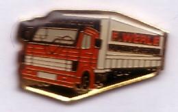 V46 Pin's Camion Transport F.WERLE 68 Colmar Alsace Willer-sur-Thur Achat Immédiat - Transport Und Verkehr