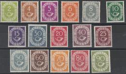 Germania 524 ** 1951/52 - Cifra E Corno Di Posta N. 9/24. Cert. Raybaudi. SPL - Ongebruikt