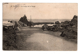 Cpa Biarritz Le Rocher De La Vierge Circulee En 1905 - Biarritz