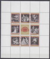ÖSTERREICH  1294-1301, Kleinbogen, Postfrisch **, 100 Jahre Wiener Staatsoper, 1969 - Blocks & Kleinbögen