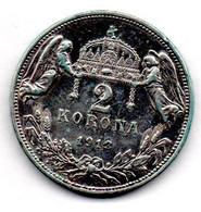 Hongrie /2 Coronas 1913 KB  / TTB - Hungary