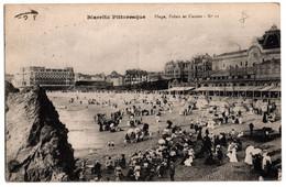 Cpa Biarritz Pittoresque Plage Palais Et Casino Circulee En 1918 - Biarritz