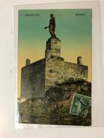 GREECE - CEPHALONIE - ARGOSTOLI - MAITLAND STATUE  -  1915 - POSTCARD - Grecia