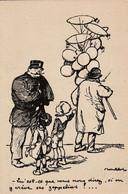 """Carte Postale Poulbot N° 46. A. Ternois, Paris. Visé N°46. """"qu'est-ce Que Vous Nous Direz, Si On Y Crève Ses Zeppelins ? - Patrióticos"""
